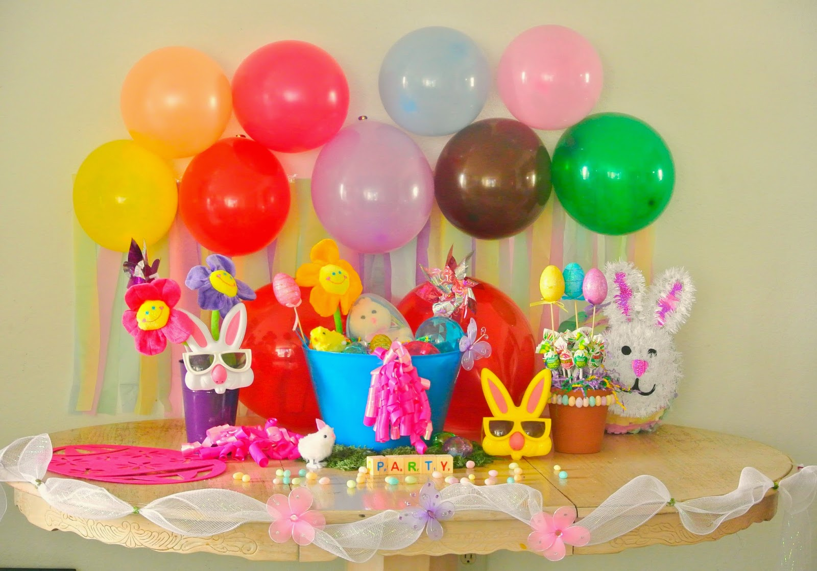 Balloons, party decor, Spring decor