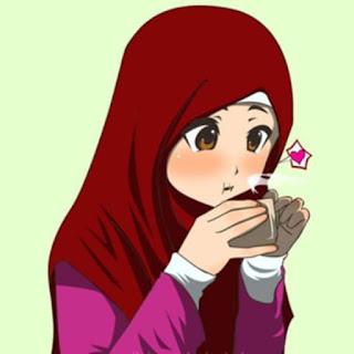 gambar kartun wanita muslimah terbaru