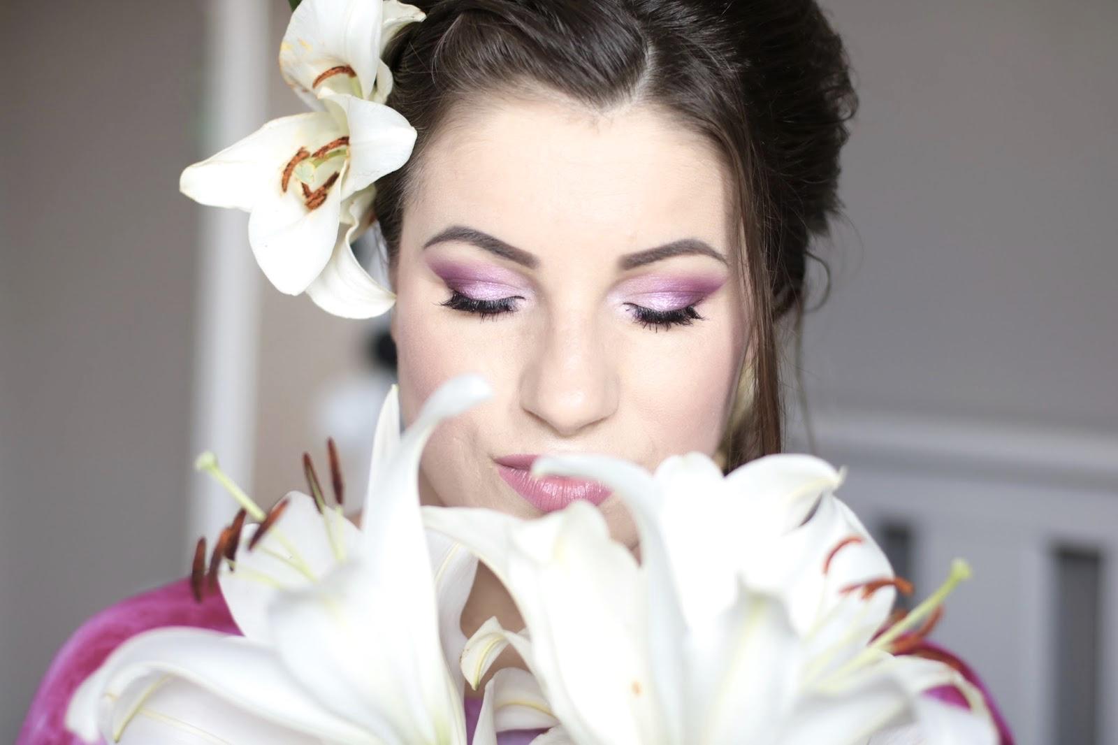 Bridal Makeup - Różowy Ślubniaczek z Błyskiem na oku