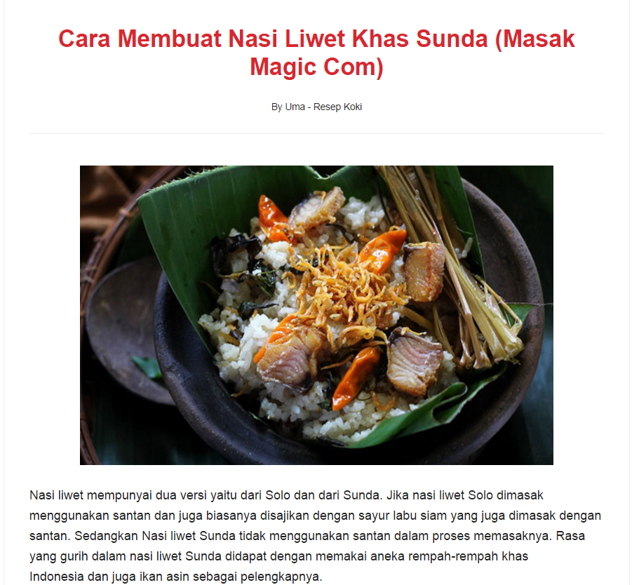 Resep Koki Solusi Ibu Memasak Secara Mudah Di Rumah Food Travel And Lifestyle Blog