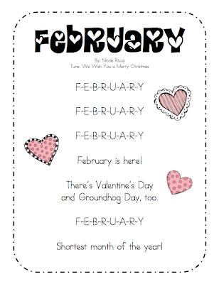 Mrs  Ricca's Kindergarten: February Song