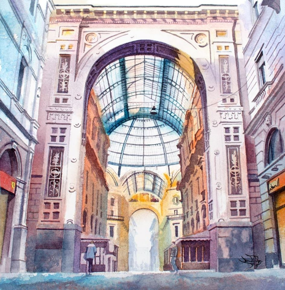 02-Milan-Viktoria-Kravchenko-Architecture-Student-Paints-City-Scenes-Watercolors-www-designstack-co