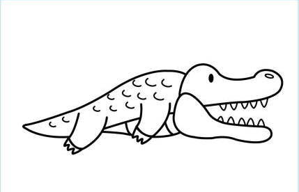 Free Crocodile Coloring Pages, Download Free Clip Art, Free Clip ... | 276x429