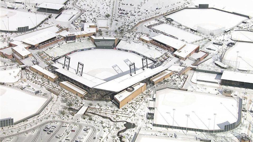 February 2013 Snow In Scottsdale Arizona Covers Salt