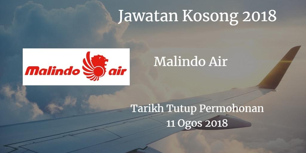 Jawatan Kosong Malindo Air 11 Ogos 2018