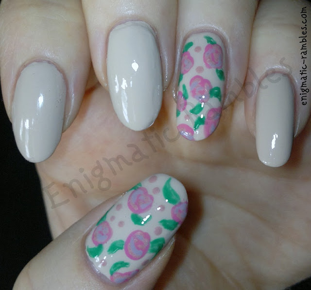 freehand-rose-roses-nail-art-barry-m-lychee-models-own-pink-blush
