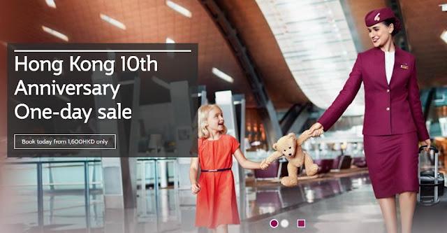 10週年優惠,限賣1日!卡塔爾航空 歐洲航線 HK$3774起,12月前出發中,只限3月21訂購。
