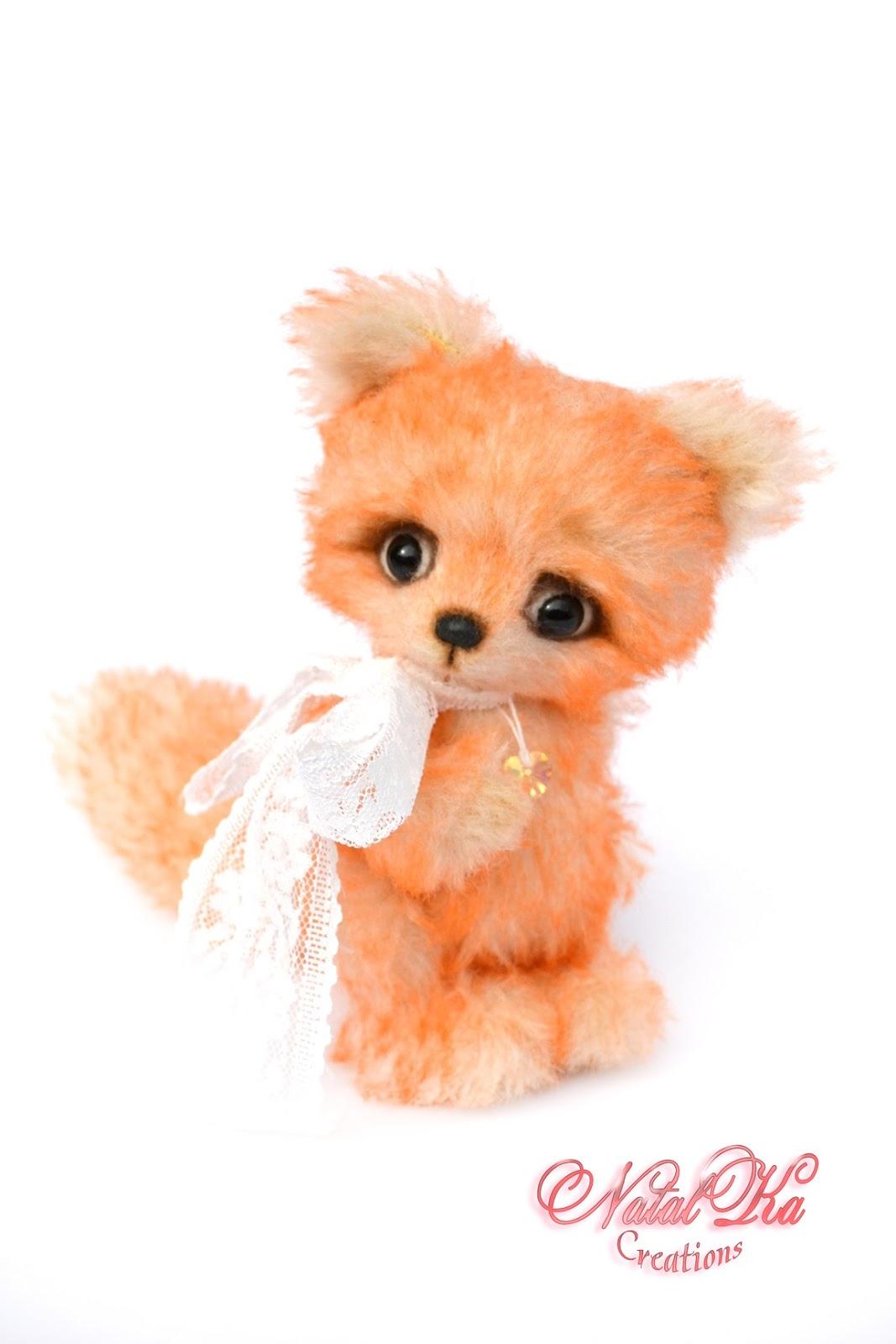 Artist teddy fox, fox, teddies, teddy jointed, Künstlerfuchs, Fuchs, Künstlerteddys, handmade by NatalKa Creations