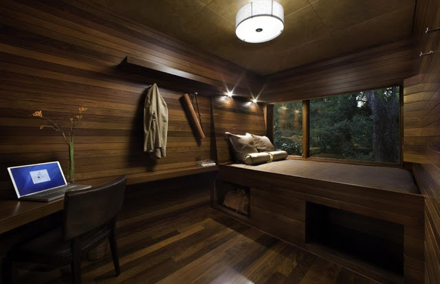 How to make up the house with wood interior, making the idea of ...