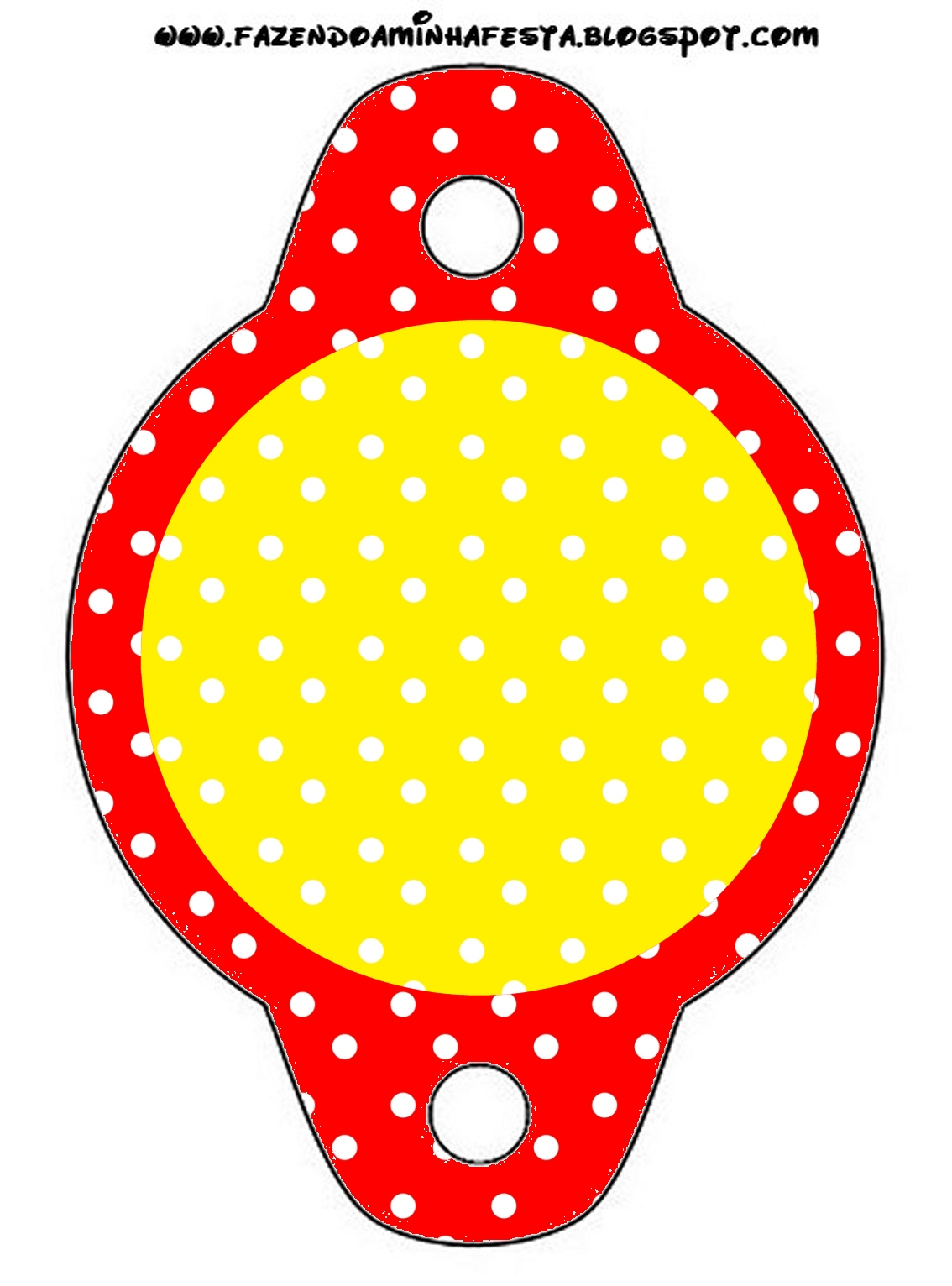 Sweet 16 Red Yellow And Withe Polka Dots: Free Party