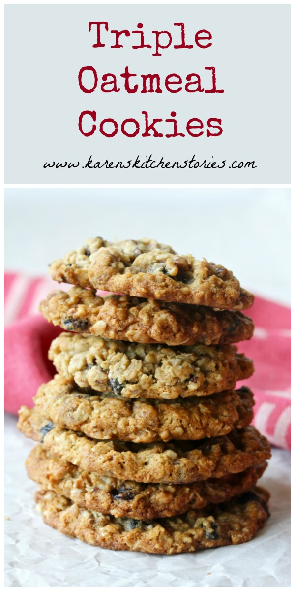 Triple Oatmeal Cookies