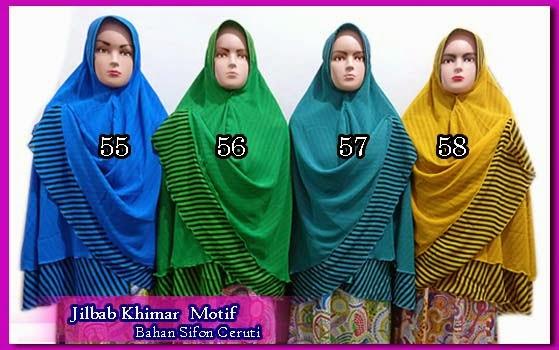 Jilbab bolak balik motif