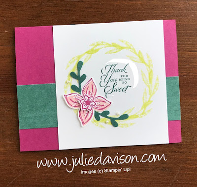 Stampin' Up! Pop of Petals + Treat Time Card ~ www.juliedavison.com