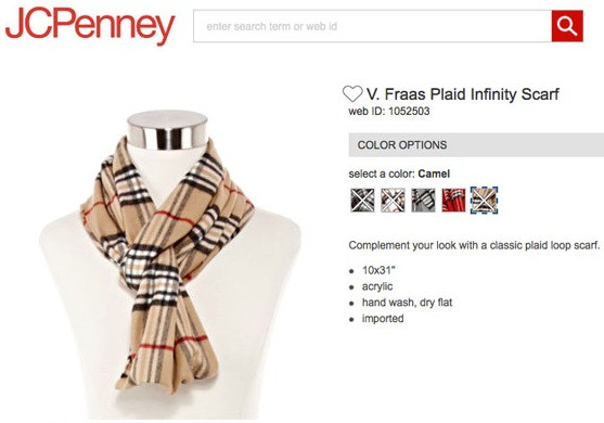 JCPenney Scarf Looks Like Burberry