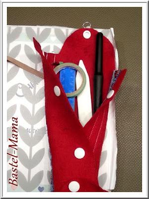 rote Stiftetasche Filz