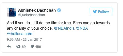Abhishek Bachchan promises to act in Satnam Singh Bhamara's Biopic for free!