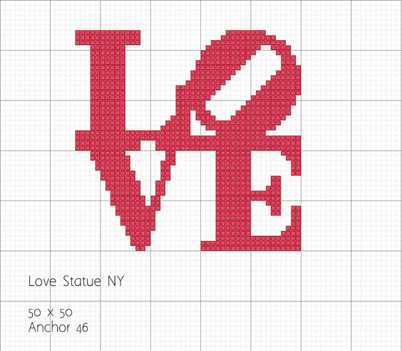 Dia dos Namorados Especial Em Ponto Cruz Com Gráficos 79