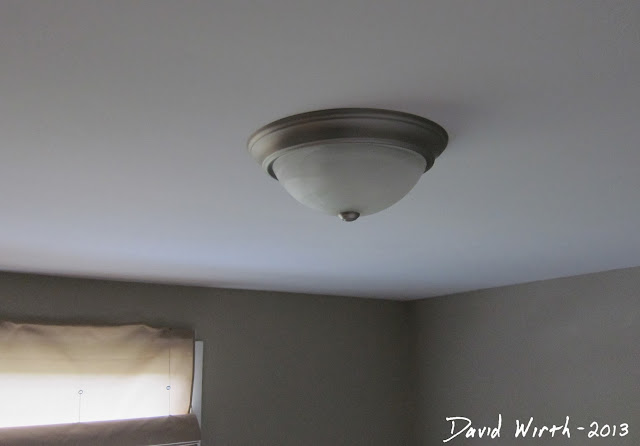 install new ceiling light, make room look new