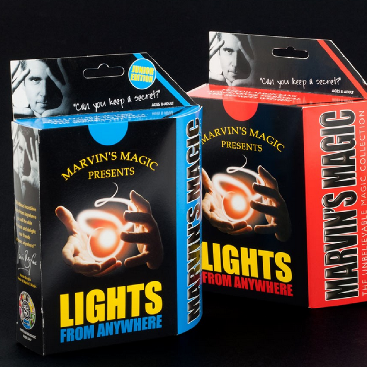 Dans cette boite renferme le secret du tour de magie Lights From Anywhere.