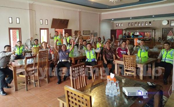 Satlantas Polres OKI  Nobar Piala Bhayangkara Cup 2016