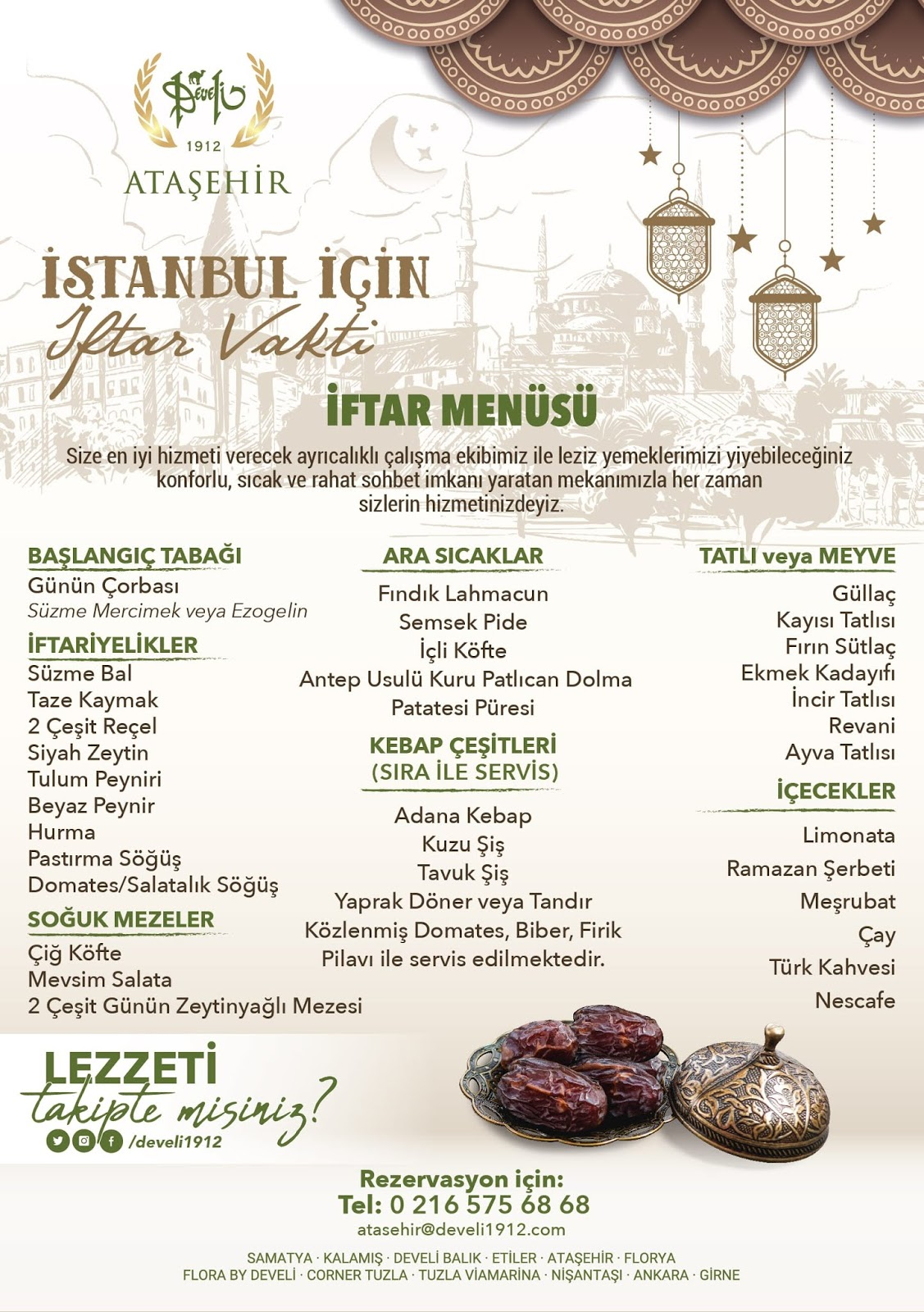 develi iftar menüsü 2019 develi iftar 2019 anadolu yakası iftar mekanları 2019 en iyi iftar mekanları istanbul