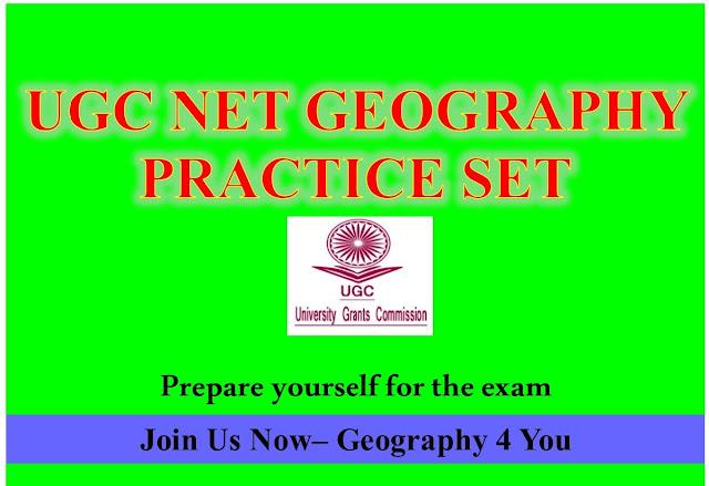 UGC-CBSE NET (GEOGRAPHY-80) PRACTICE SET-2