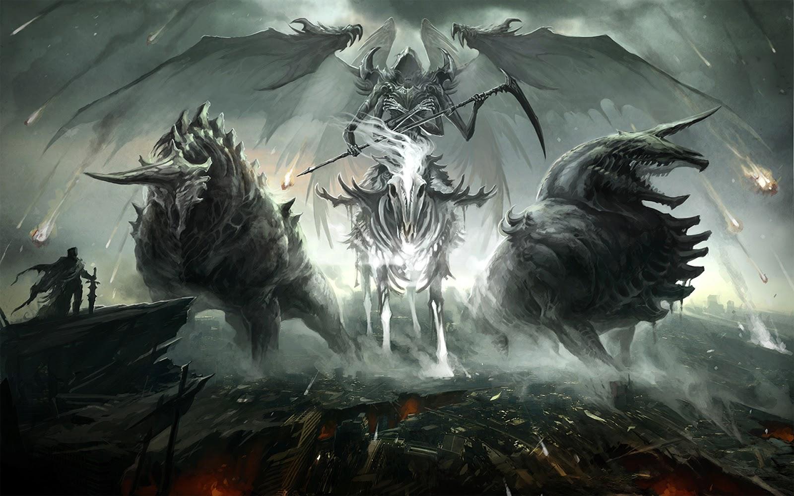 Tải Hình Nền 3D Kinh Dị Về Ác Quỷ Bóng Đêm Và Địa Ngục