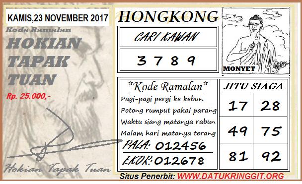 Syair HK Kamis 23-11-2017 - Syair SGP HK