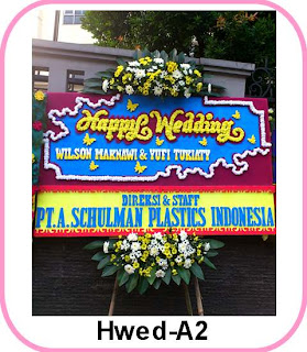 Bunga Papan Happy Wedding - Tangerang