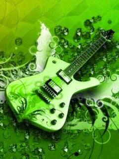 Green Guitar 240x320 HD Mobile Music Wallpaper   Mobile ...  Mobile Music Hd Wallpaper