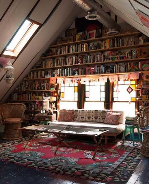 bibliothèque bohème