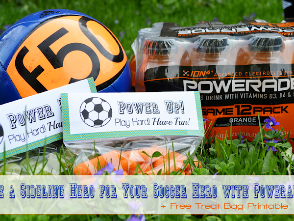 Be a #SidelineHero for Your Soccer Hero with POWERADE {+ Free Printable} #ad