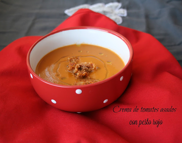 Crema de tomates asados,pesto rojo,Gordon Ramsey