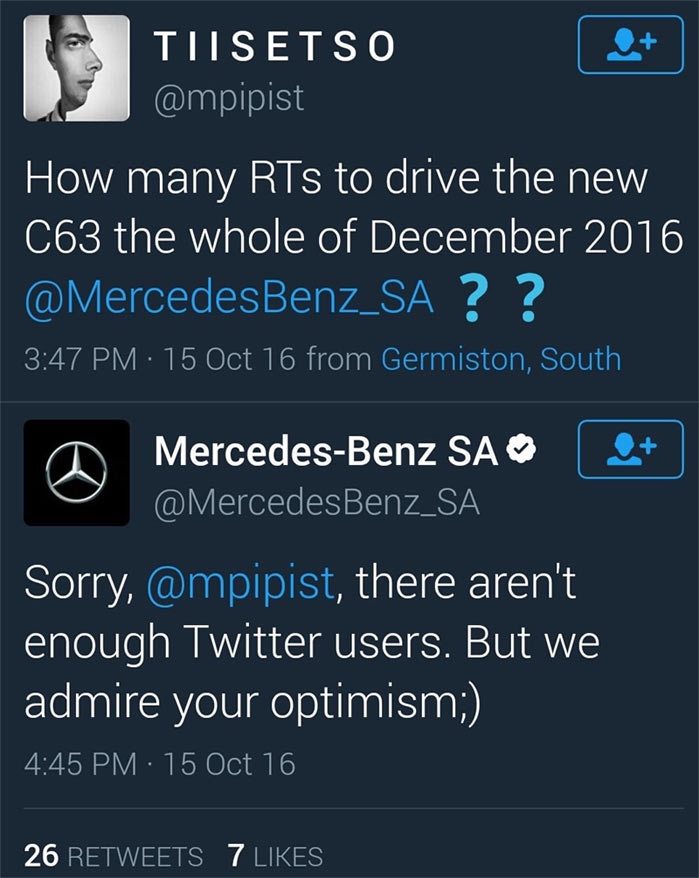 Check out how Mercedes did dirty to fan who wanted a car giveaway