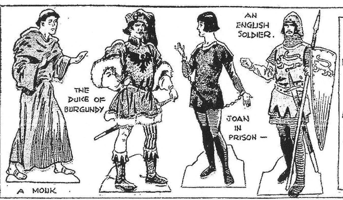 Mostly Paper Dolls: JOAN OF ARC CUT-OUTS, 1929