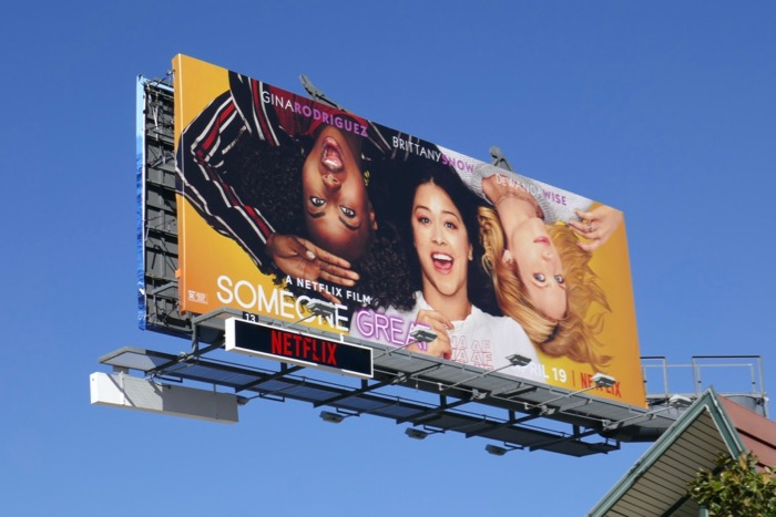 Someone Great film billboard