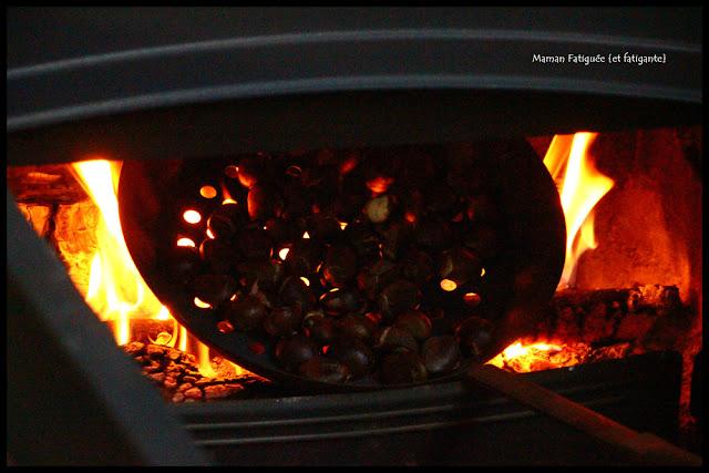 châtaignes au feu de bois
