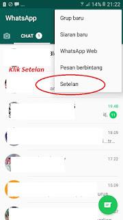 Cara agar status Whatsapp tidak terlihat oleh Pasangan 2