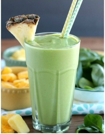 Tropical Green Smoothie, dari Dessert Now, Dinner Later!