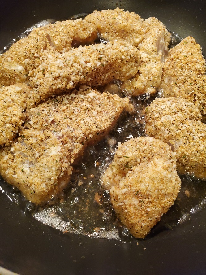 this is fish frying in oil