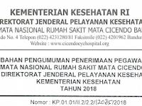 Pengumuman Penerimaan Pegawai Non PNS Rumah Sakit Mata Cicendo Bandung