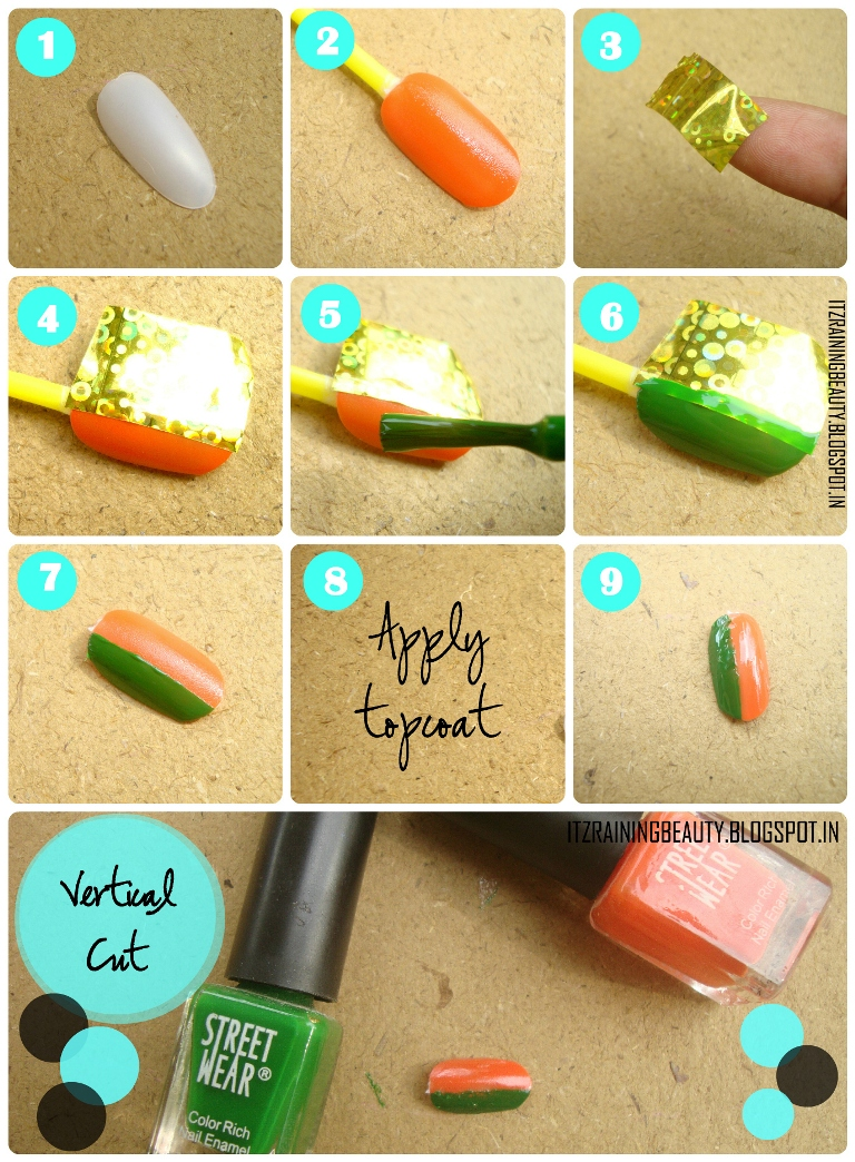 Nail Designs Step By Step With Tape 2 ImagesJonctionsenegal