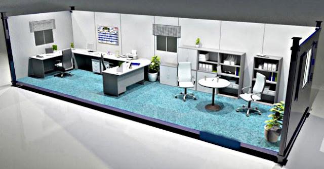 Denah Kantor dari Kontainer (Container Office)