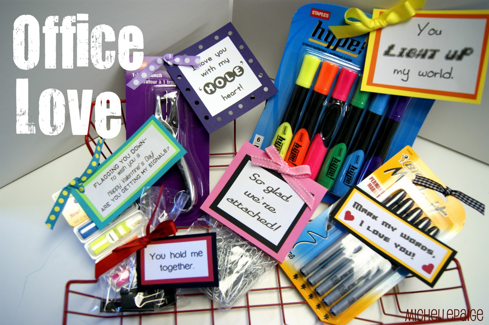 Michelle Paige Blogs Office Supply Valentines