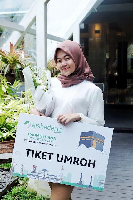 aishaderm : pemenang tiket umroh di final beauty camp - rara febtarina - lifestyle blogger
