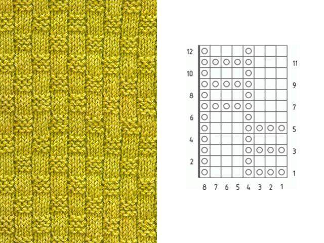 вязание узор плетенка как связать
