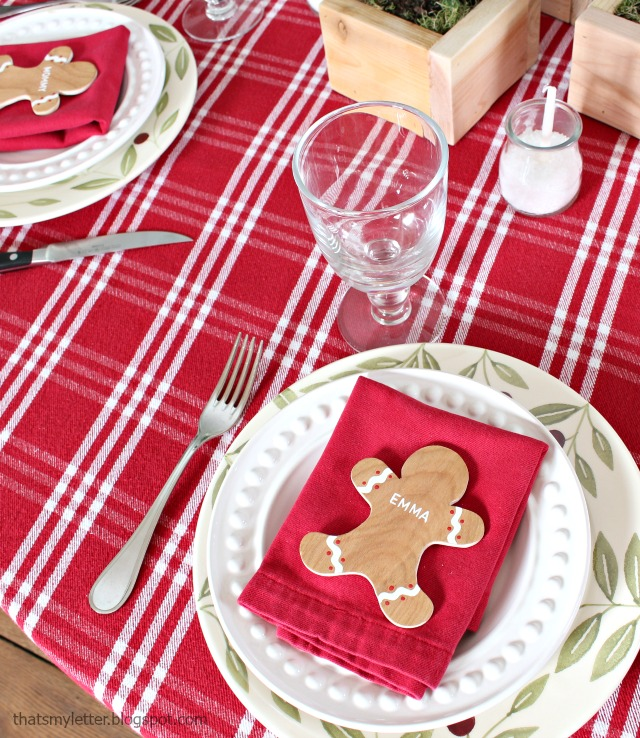 diy gingerbread placecards