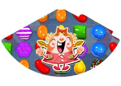 Conos= Cucuruchos para Imprimir Gratis de Fiesta de Candy Crush.