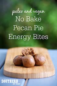Easy No Bake Pecan Pie Energy Bites Recipe - gluten free, vegan, paleo, grain free, dairy free, egg free, healthy, sugar free, bliss balls, raw balls