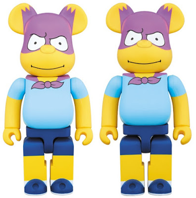 The Simpsons Bartman 400% & 1,000% Be@rbrick Vinyl Figures by Medicom